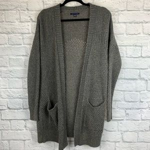 American Eagle Longline Knit Cardigan Sweater M